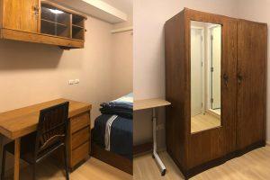Closet and Working Desk in Bedroom